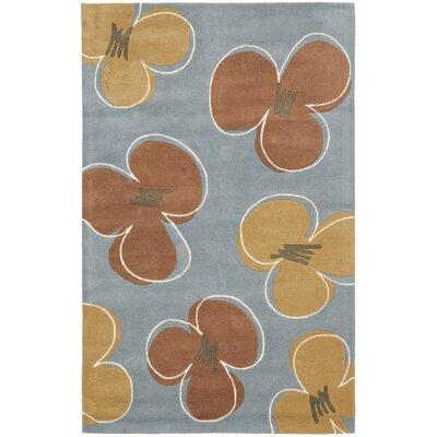 Cowan Hand-Tufted Blue Area Rug Rug Size: 2 x 3