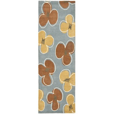 Armstrong  Hand-Tufted Blue Area Rug Rug Size: Runner 26 x 8