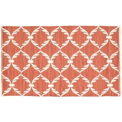 Retta Orange/White Area Rug