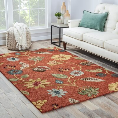 One-of-a-Kind Augustus Hand-Woven Wool Marigold  Area Rug Rug Size: Rectangle 96 x 136
