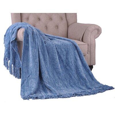 Khloe Knitted Throw Color: Niagara, Size: 60 L x 50 W