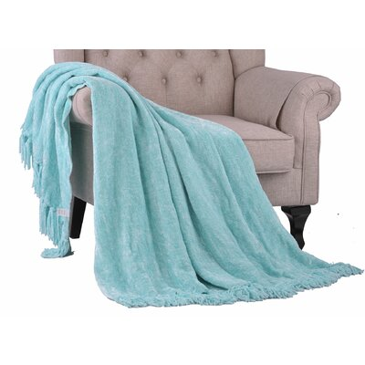 Khloe Knitted Throw Color: Island Paradise, Size: 80 L x 60 W