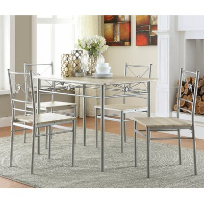 Mayflower 5 Piece Dining Set Finish: Taupe