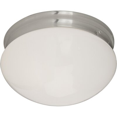 Slatington 2-Light Flush Mount Finish: Satin Nickel