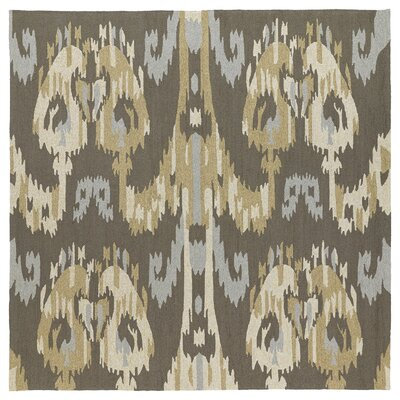 Cavour Graphite Floral Indoor/Outdoor Area Rug Rug Size: Square 79