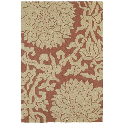 Cavour Rose Paprika Floral Indoor/Outdoor Area Rug Rug Size: Square 59