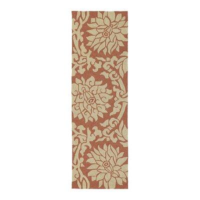 Chloe Rose Paprika Floral Indoor/Outdoor Area Rug Rug Size: Runner 26 x 8