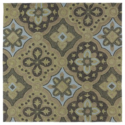 Cavour Mocha Floral Indoor/Outdoor Area Rug Rug Size: Square 59
