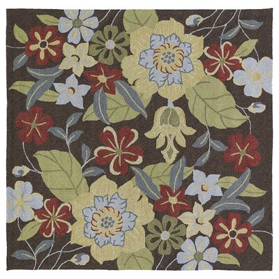 Cavour Hand-Tufted Mocha Indoor/Outdoor Area Rug Rug Size: Square 79