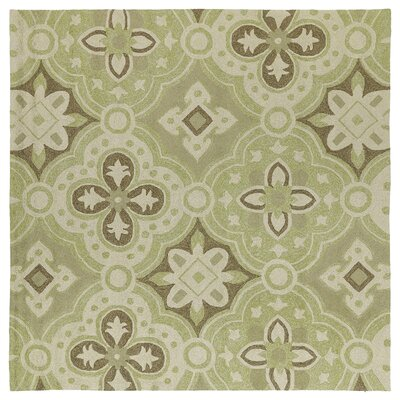 Cavour Wasabi Floral Indoor/Outdoor Area Rug Rug Size: Square 59