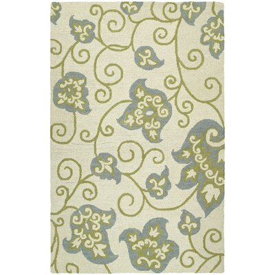 Pearson Handmade Ivory and Gray Area Rug Rug Size: Rectangle 8 x 10
