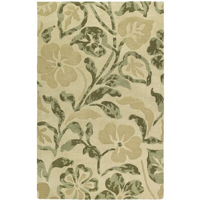 Arnold Lily In The Valley Beige Area Rug Rug Size: 5 x 79