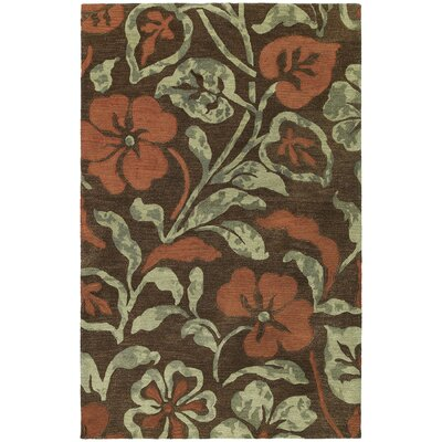 Arnold Lily In The Valley Brown Area Rug Rug Size: 2 x 3
