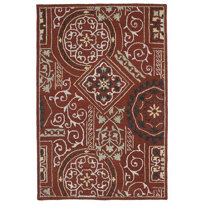 Kendal Red Area Rug Rug Size: Rectangle 76 x 9