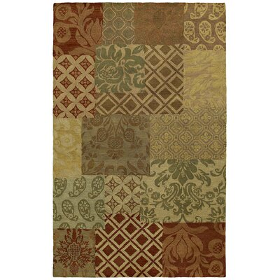 Bilbrook Hand-Tufted Damask Area Rug Rug Size: Rectangle 5 x 79