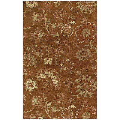 Bilbrook Hand-Tufted Copper Area Rug Rug Size: Rectangle 36 x 53