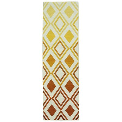 Patton Orange Geometric Area Rug Rug Size: Runner 26 x 8