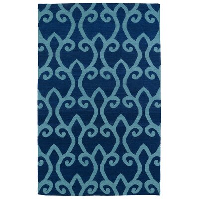 Woodbine Blue Geometric Area Rug Rug Size: 2' x 3'