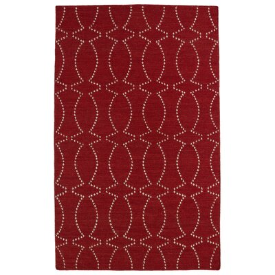 Gillespie Red Geometric Area Rug Rug Size: 36 x 56