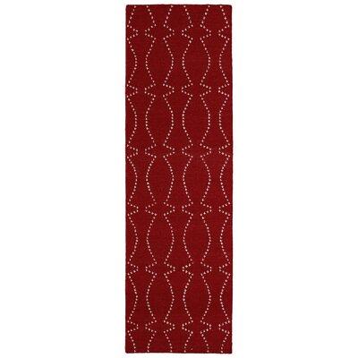 Woodbine Red Geometric Area Rug Rug Size: Runner 26 x 8
