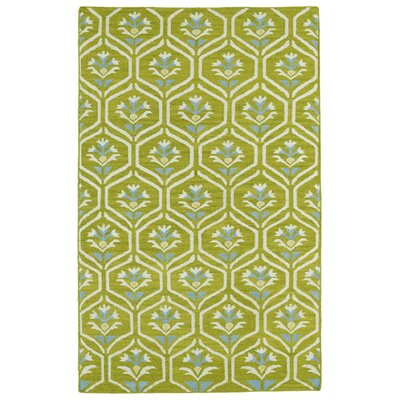 Gillespie Green Geometric Area Rug Rug Size: Rectangle 36 x 56
