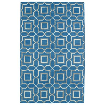 Christien Blue Geometric Area Rug Rug Size: 36 x 56