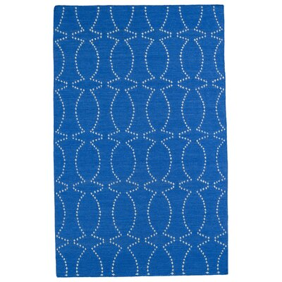 Gillespie Handmade Blue Geometric Area Rug Rug Size: Rectangle 5 x 8