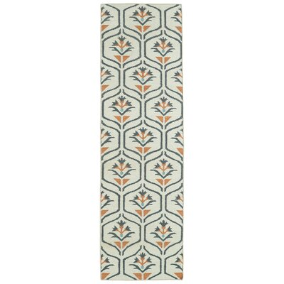 Gillespie Ivory Geometric Area Rug Rug Size: Runner 26 x 8