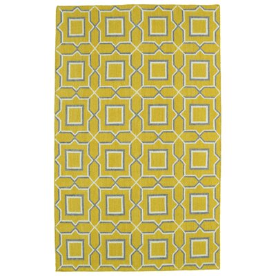 Christien Yellow Geometric Area Rug Rug Size: 36 x 56