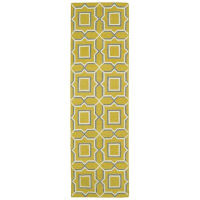 Christien Yellow Geometric Area Rug Rug Size: Runner 26 x 8