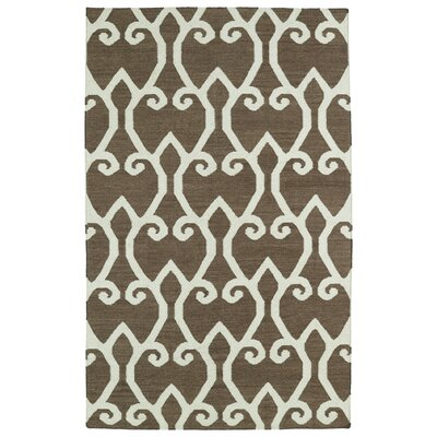 Gillespie Brown Area Rug Rug Size: 36 x 56