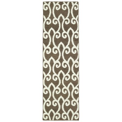 Gillespie Brown Area Rug Rug Size: Runner 26 x 8