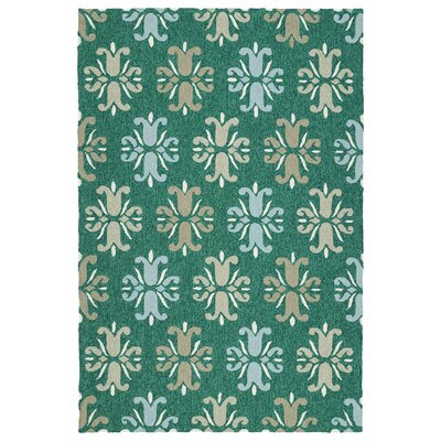 Stepanie Emerald Indoor/Outdoor Area Rug Rug Size: Rectangle 5 x 76