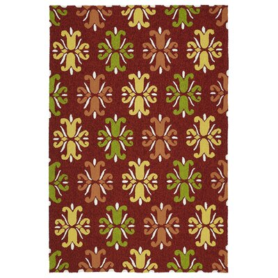 Korinthian Red Indoor/Outdoor Area Rug Rug Size: 9 x 12