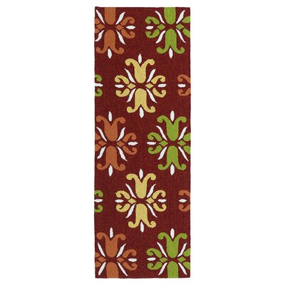 Stepanie Red Indoor/Outdoor Area Rug Rug Size: Runner 2 x 6