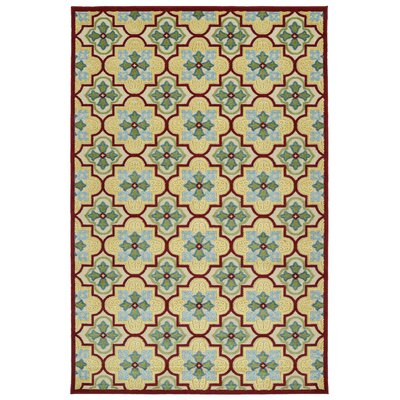 Meriden Gold Indoor/Outdoor Area Rug Rug Size: 21 x 4