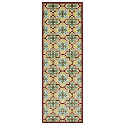 Meriden Gold Indoor/Outdoor Area Rug Rug Size: Runner 26 x 71