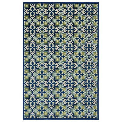 Meriden Hand-Woven Blue Indoor/Outdoor Area Rug Rug Size: 5 x 76