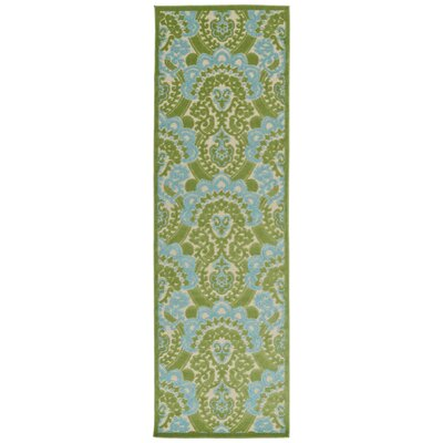 Lewis Green Indoor/Outdoor Area Rug Rug Size: Runner 26 x 71