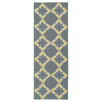 Stepanie Gray Indoor/Outdoor Area Rug Rug Size: Runner 2 x 6
