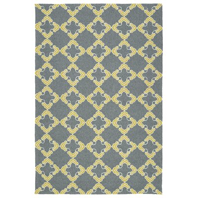 Stepanie Gray Indoor/Outdoor Area Rug Rug Size: 4 x 6