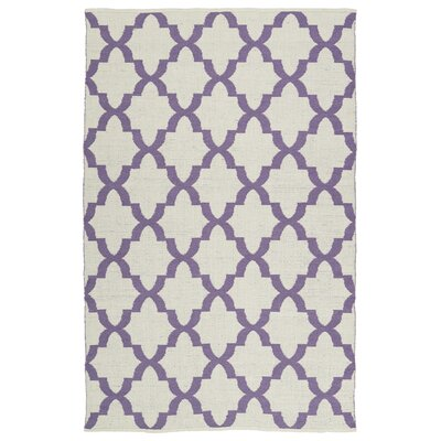 Tyesha White/Lilac Indoor/Outdoor Area Rug Rug Size: Rectangle 3 x 5