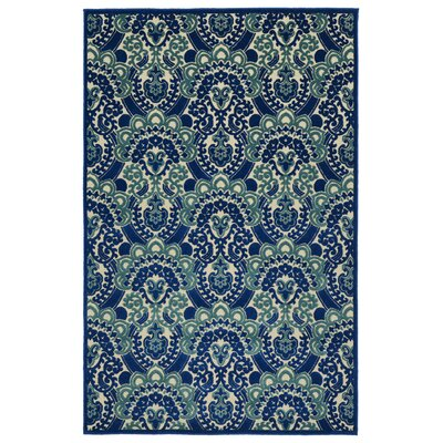 Lewis Machine Woven Blue Indoor/Outdoor Area Rug Rug Size: Rectangle 5 x 76