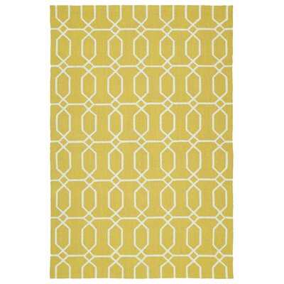 Stepanie Yellow Indoor/Outdoor Area Rug Rug Size: 2 x 3