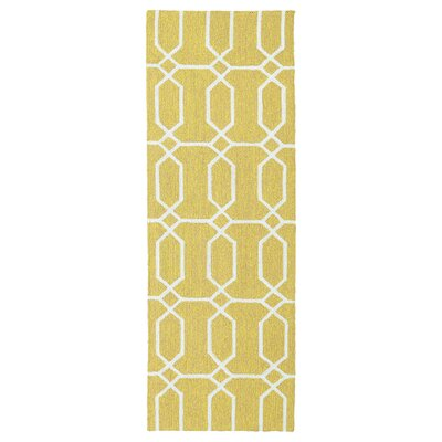 Stepanie Yellow Indoor/Outdoor Area Rug Rug Size: Runner 2 x 6
