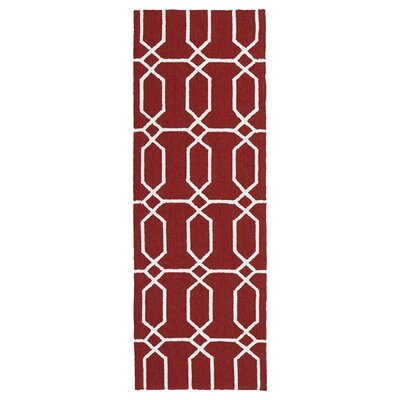 Albury Red/White Indoor/Outdoor Area Rug Rug Size: Rectangle 8 x 10