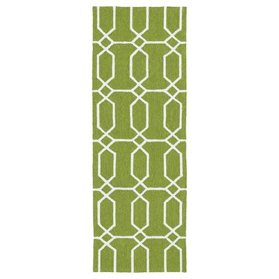 Stepanie Green/White Indoor/Outdoor Area Rug Rug Size: Rectangle 9 x 12