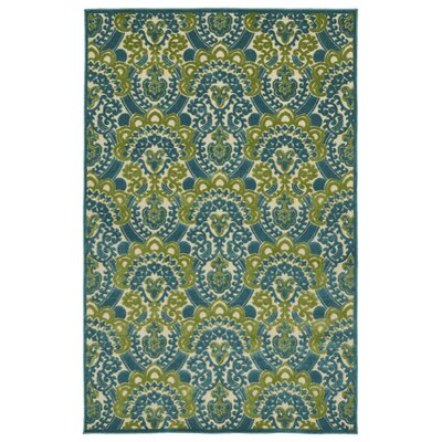 Lewis Blue Indoor/Outdoor Area Rug Rug Size: Rectangle 5 x 76