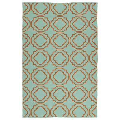 Tyesha Teal/Orange Indoor/Outdoor Area Rug Rug Size: 9 x 12