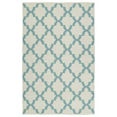 Tyesha Seafoam/Cream Indoor/Outdoor Area Rug Rug Size: 9 x 12